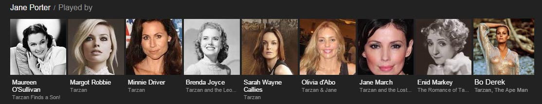 women who played Jane