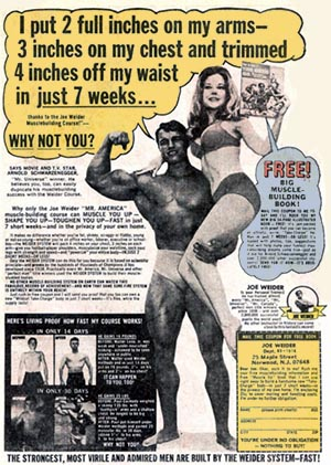 joe weider magazine ad