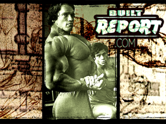 Arnold and Franco Columbu at Golds Gym in Venice California
