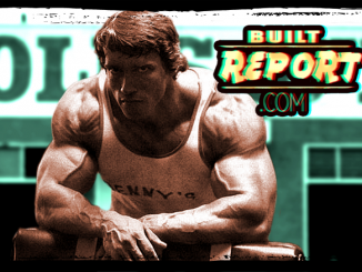 Built Report arnold resting at golds gym