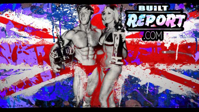 Built Report, British Bodybuilder Tony Emmott Standing next to beautiful fitness model.