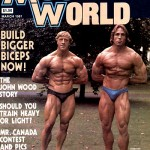 Tony Emmott and Steve Davis on the cover of Muscle World