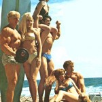 Dave Draper with fitness models
