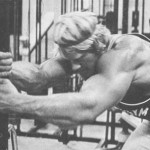Dave Draper stretching at the gym