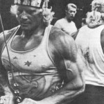 Dave Draper doing triceps pressdowns