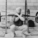 Dave Draper Front squats with 315