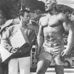 Dave Draper and Tony Curtis
