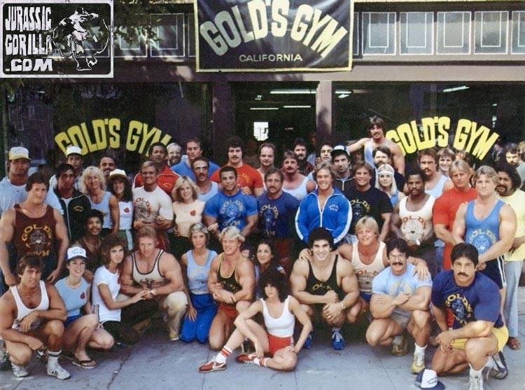 Ken Waller in front of Golds Gym