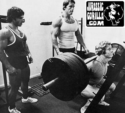 Ken Waller, Franco Columbu, and Arnold Schwarzenegger