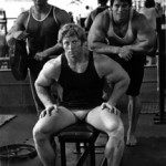 Youtube sensation Rick Drasin with Arnold Schwarzenegger and Kenneth Waller