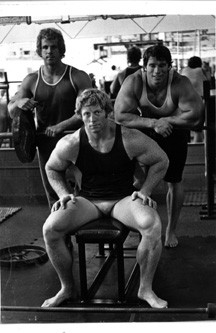 Ric Drasin Arnold Schwarzenegger and Ken Waller