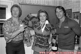 Ken Waller with David Cassidy and Arnold Schwarzenegger