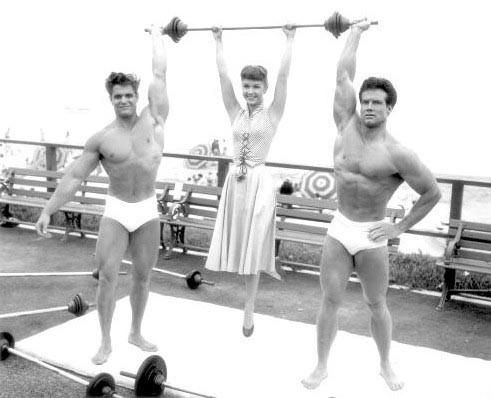 Steve Reeves Debbie Reynolds and Dick Dubois