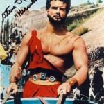 Steve Reeves in Chariot in Hercules
