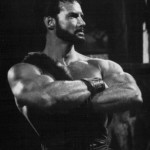 Steve Reeves strikes the Joe Weider pose Goliath and the Barbarians