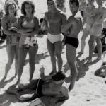 Steve Reeves and George Eiferman at Muscle Beach