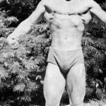 Steve Reeves already looking like bodybuilder.
