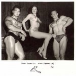 Steve Reeves and Alan Stephen relax with supermodel,