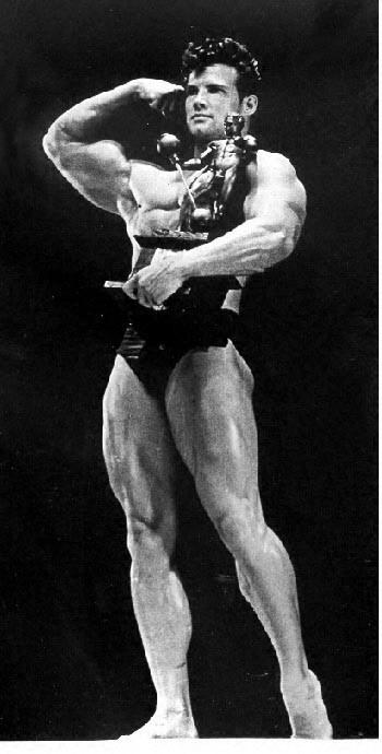 Steve Reeves winning Mr Universe