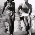 Steve Reeves with early fitness model.