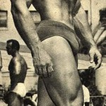 Steve Reeves at the Beach sometime around the time he played Hercules