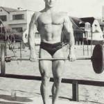 Steve Reeves at the original Muscle Beach