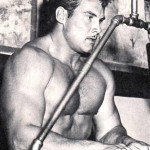 Steve Reeves doing a triceps pushdown