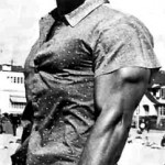 Steve Reeves hits a tricep shot.