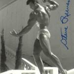 Steve Reeves posing like a statue