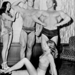 Steve Reeves and George Eiferman impress the ladies