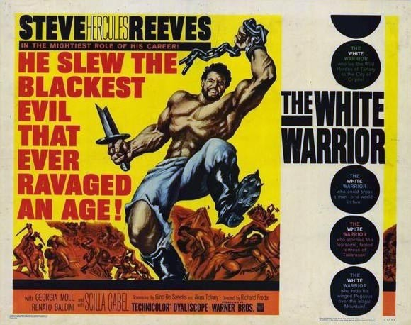 Steve Reeves White Warrior Poster