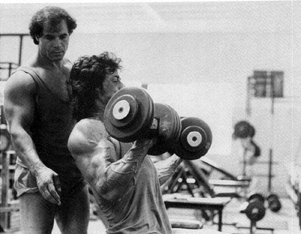 Sylvester Stallone and Franco Columbu