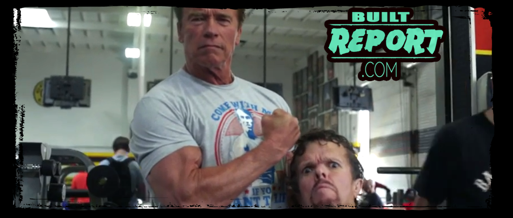 Peter Dinklage trains Arnold Schwarzenegger